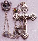 Finished Rosary Beads: Rosary Ladder Vitrail