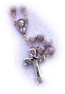 Finished Rosary Beads: Job's Tear Rosary