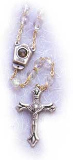 Finished Rosary Beads: Lourdes Water Rosary