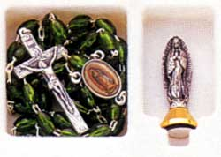 Finished Rosary Beads: Guadalupe Rosary Set