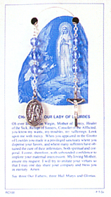 Finished Rosary Beads: Our Lady of Lourdes Chaplet