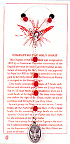 Rosaries: Holy Spirit Chaplet