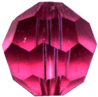 Round Rose Pink Crystal 6mm