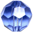 Crystal Beads: Round Lt Sapphire Crystal 6mm