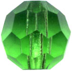 Crystal Beads: Round Peridot Crystal 6mm