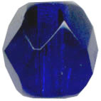 Glass Beads: AB Cz FP Cobalt Glass 6mm