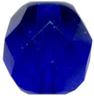 Glass Beads: AB Cz FP Cobalt Glass 8mm