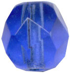 Glass Beads: Cz FP Cobalt Glass 6mm