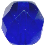 Glass Beads: Cz FP Cobalt Glass 8mm