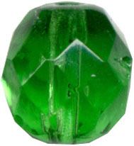 Glass Beads: Cz FP Emerald Glass 8mm