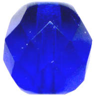 Glass Beads: Cz FP Sapphire Glass 8mm