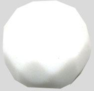 Glass Beads: Cz FP White Glass 8mm