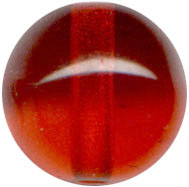 Glass Beads: Druk Red Glass 8mm