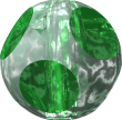 Glass Beads: Soccer Emerald Glass 8mm