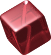 Glass Beads: Cube Garnet Glass 8mm