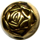 Rosebud Antiqued GP 6mm