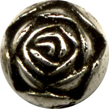 Metal Beads: Rosebud Antiqued SP 9mm