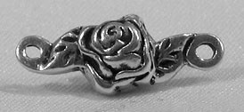 Metal Beads: Rosebud Solid Sterling