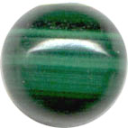 Semi-precious Beads: Malachite Green 6mm