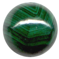 Semi-precious Beads: Malachite Green Natural 8mm