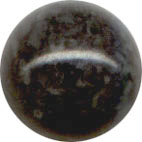 Semi-precious Beads: Fossil Black 6mm