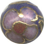 Unusual Beads: Cloisonne Cobalt Blue 6mm