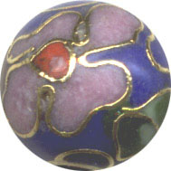 Unusual Beads: Cloisonne Cobalt Blue 8mm