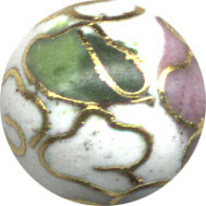 Cloisonne White 8mm