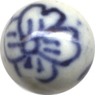 Unusual Beads: Porcelain Blue and White 8mm