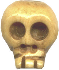 Unusual Beads: Bone Skull Bead