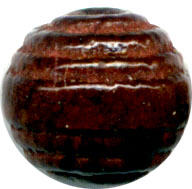 Wood Beads: Carved Cherry Rnd 8mm