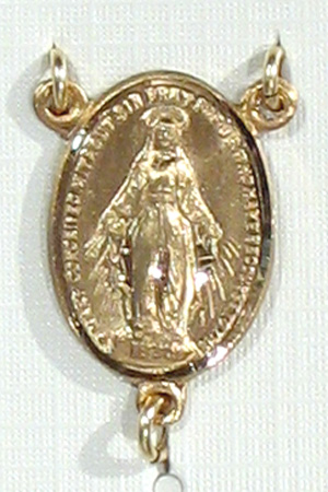 Rosary Centers: Miraculous Size 5 14kt