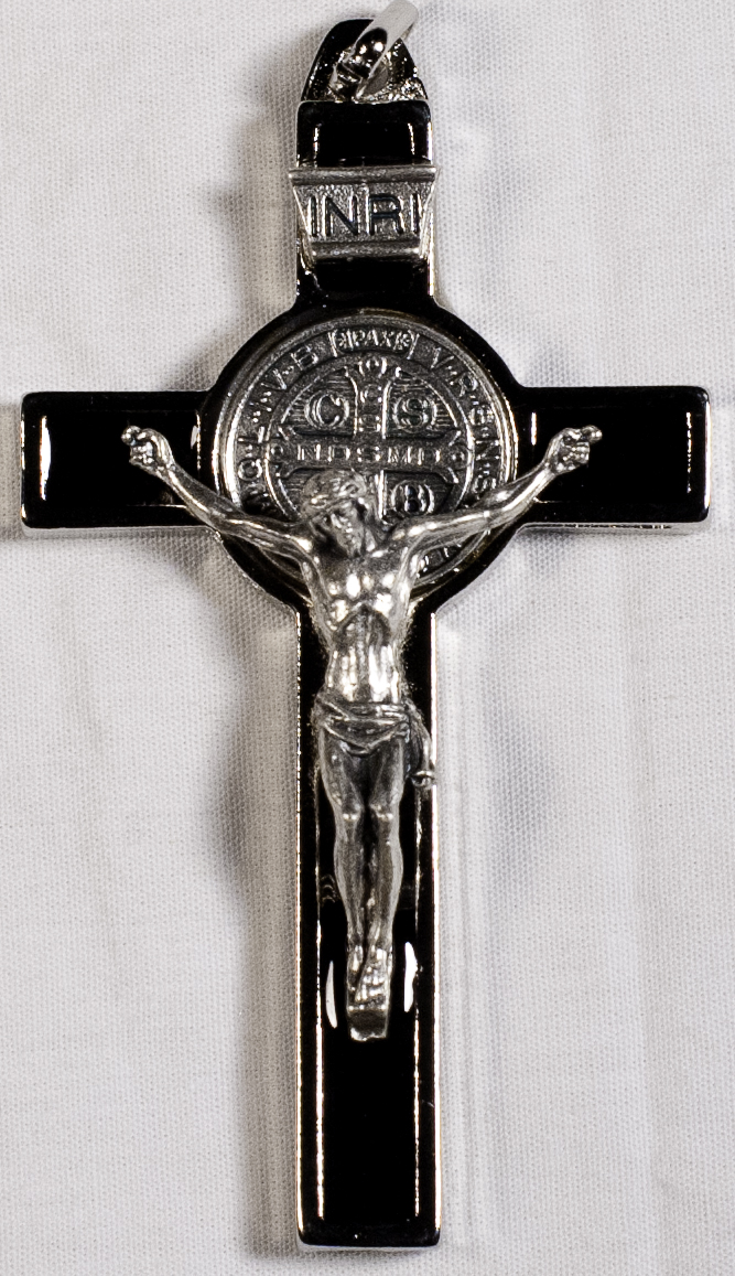 Crucifixes: St. Benedict Crucifix Blck Pls