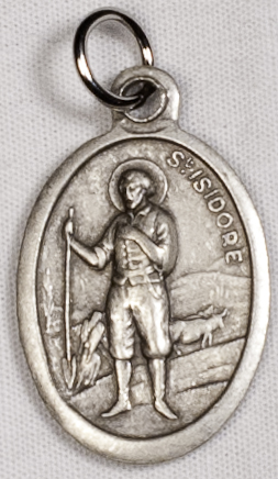 St. Isidore OX Saint Medal