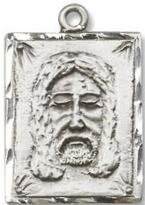 Religious Medals: Holy Face Sterling Medal