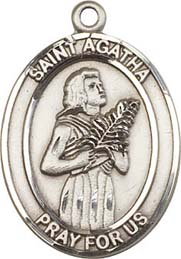 Religious Medals: St. Agatha SS Saint Medal