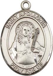 Religious Medals: St. Apollonia SS Saint Medal