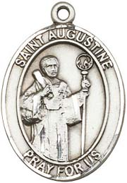 St. Augustine SS Saint Medal