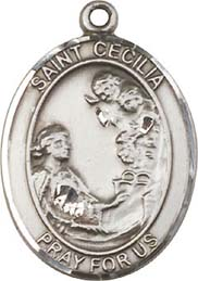Religious Medals: St. Cecilia SS Saint Medal