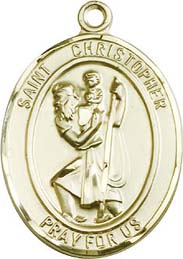 Religious Medals: St. Christopher GF Medal