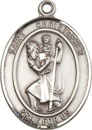 Religious Medals: St. Christopher SS Saint Medal