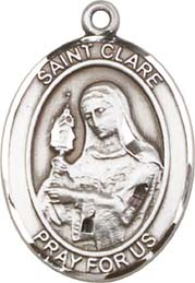 St. Clare SS Saint Medal