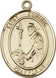 Religious Medals: St. Dominic GF Saint Medal