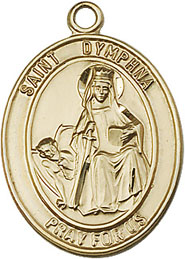 Religious Medals: St. Dymphna GF Saint Medal