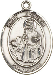 Religious Medals: St. Dymphna SS Saint Medal