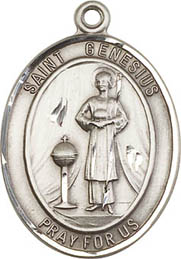 Religious Medals: St. Genesius of Rome SS Medal