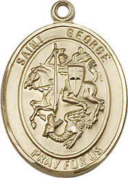 Religious Medals: St. George GF Saint Medal