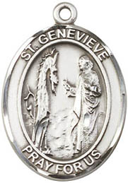 Religious Medals: St. Genevieve SS Saint Medal