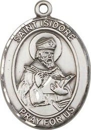 Religious Medals: St. Isidore of Seville SS Mdl