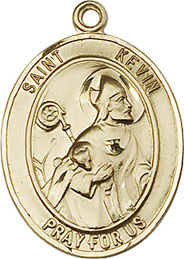 Religious Medals: St. Kevin GF Saint Medal